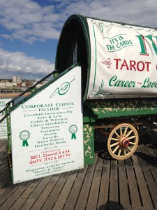Tarot reader on Brighton Pier